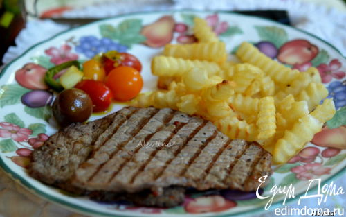 Рецепт Говяжий стейк на гриле