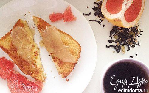 Рецепт Двойная гренка без яиц с медом и грейпфрутом
