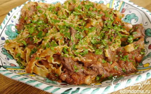 Рецепт Паста с рагу из утки