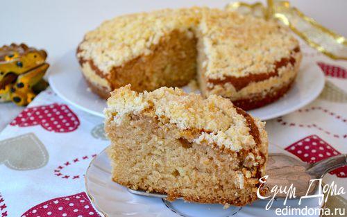 Рецепт Домашний пирог с крошкой (Crumb Cake)