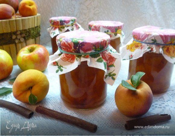 Ароматное яблочно-персиковое варенье