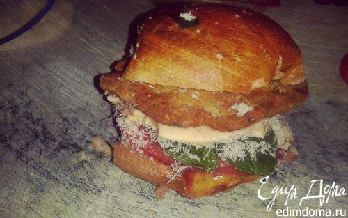 Рецепт Бургер с куриной котлетой