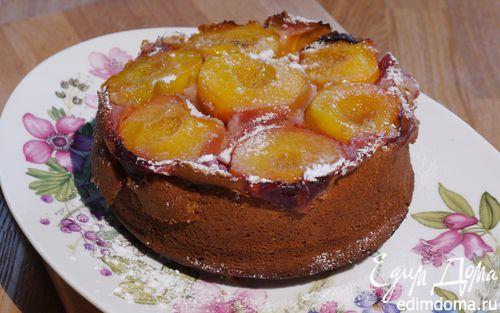 Рецепт Пирог-перевертыш с персиками