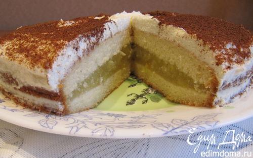 Рецепт Яблочный торт-пирог с корицей