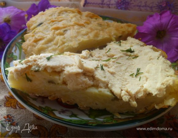 Картофельный пирог с мясным паштетом