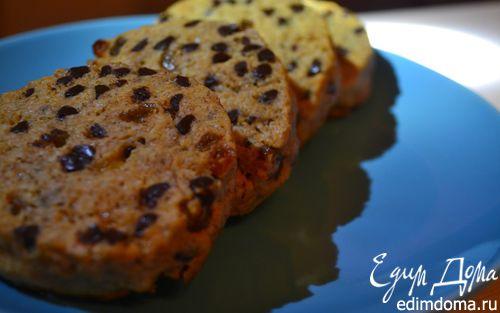 Рецепт Овсяное печенье с изюмом и кусочками шоколада