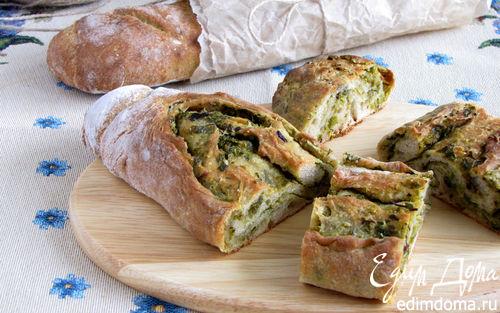 Рецепт Хрустящий хлеб с оливково-базиликовой топенадой