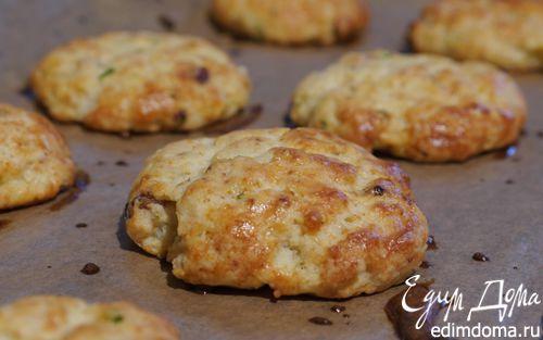 Рецепт Картофельное печенье с сыром и грудинкой