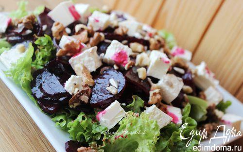Рецепт Салат из маринованной запеченной свеклы с фетой