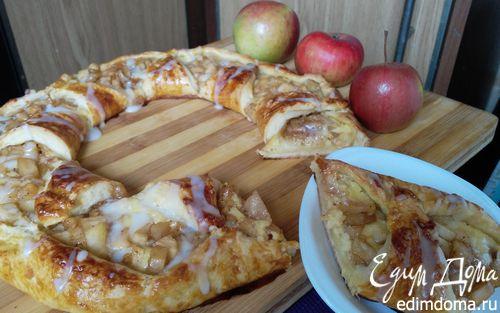 Рецепт Яблочное кольцо со сливочным сыром