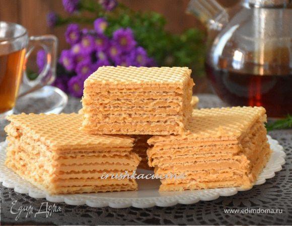 Вафельный торт с карамельным кремом