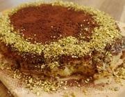 Шоколадно-фисташковый пирог