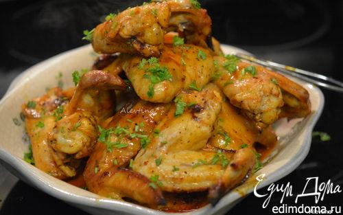 Рецепт Сладко-пряные куриные крылышки