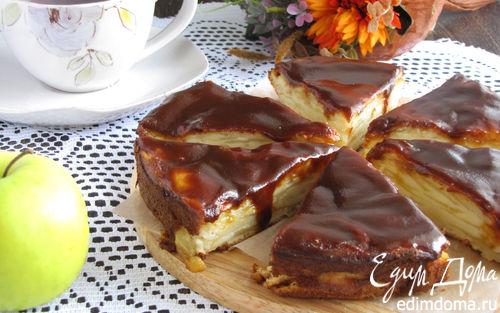 Рецепт Грушево-яблочный пирог с карамелью