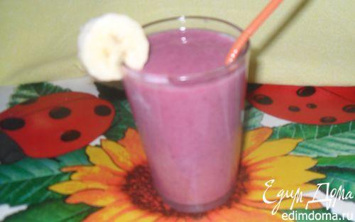 Рецепт Бананово-малиновый смузи
