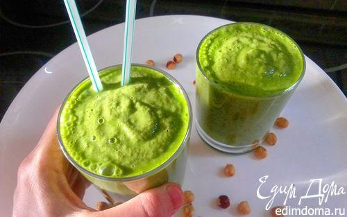 Рецепт Зеленый смузи на фундучном молоке