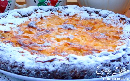 Рецепт Яблочный пирог на ореховом тесте