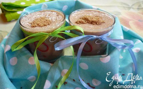 Рецепт Шоколадно-льняной смузи