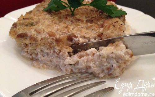 Рецепт Запеканка из полбы под сливками с соусом болоньезе
