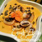 Тыквенный суп-пюре с бататом и шампиньонами