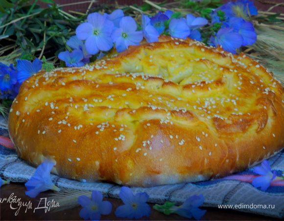Пирог с печенью и шпинатом