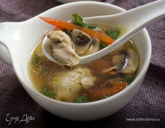 Острый куриный суп