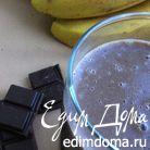 Горячий шоколадно-банановый коктейль