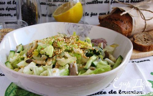 Рецепт – Хрустящий салат с вешенками