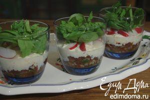 Салат по-провансальски в бокале
