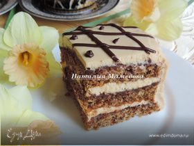 Орехово-карамельный торт