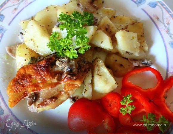 Картофель курино-грибной