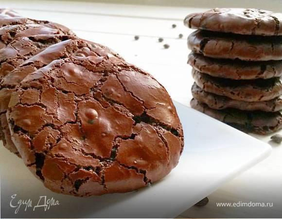 Шоколадное печенье без муки