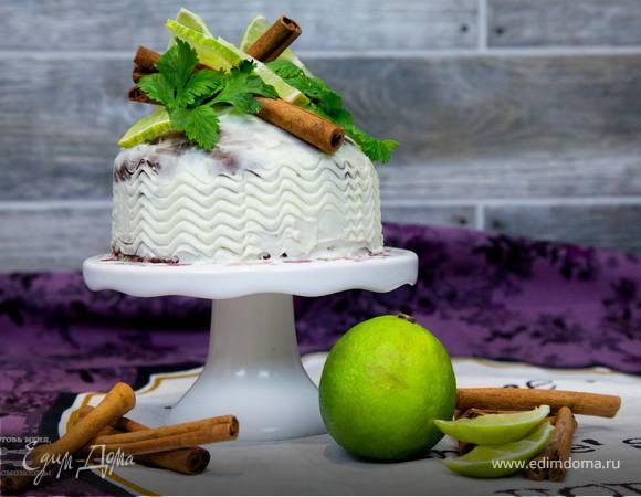 Шоколадное пирожное с ромом и лаймом