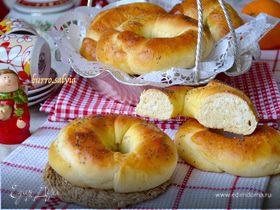 Апельсиновые булочки с кокосом