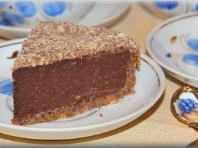 Шоколадно-ореховый постный торт