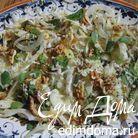 Салат из фенхеля с изюмом и грецкими орехами