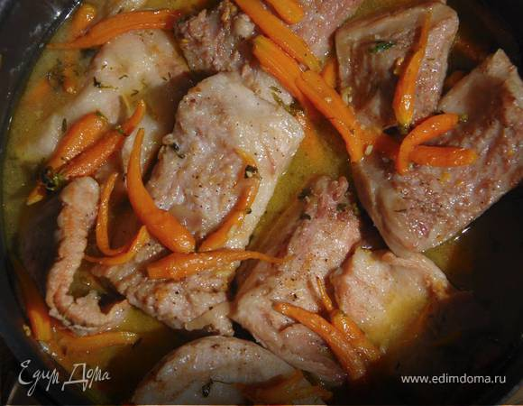 Свинина с морковью в имбирном соусе