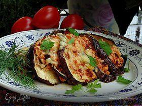 Веер из баклажана с куриным рагу