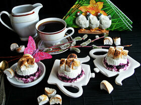 Творожный десерт с маршмеллоу
