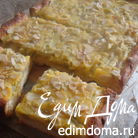 Дрожжевой пирог с ревенем и миндальными листиками