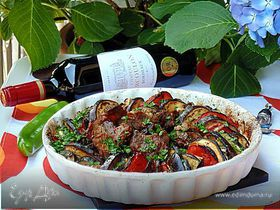 Запеченные овощи «Рататуй» с острой телятиной