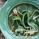 Суп-лапша из цесарки с зелеными паппарделле