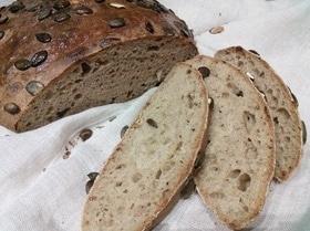 Смешанный хлеб с тыквенными семечками и бальзамическим уксусом