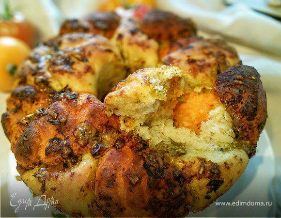 Хлебная пицца из разноцветных шариков (Pizza Monkey Bread)
