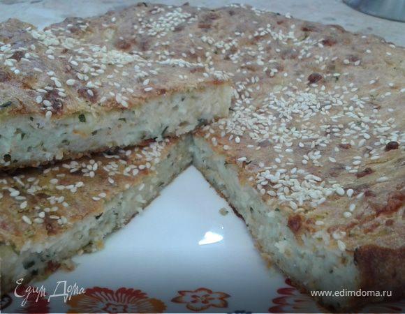 Сырный пирог с кабачком