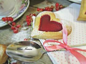 Печенье «Сердечки» с красной смородиной