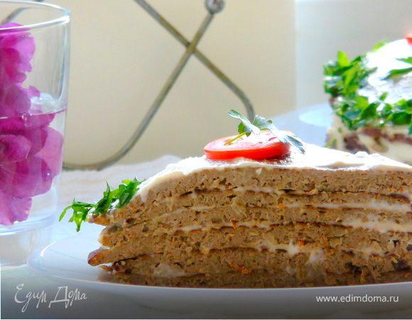 Печеночный торт с гречневой мукой