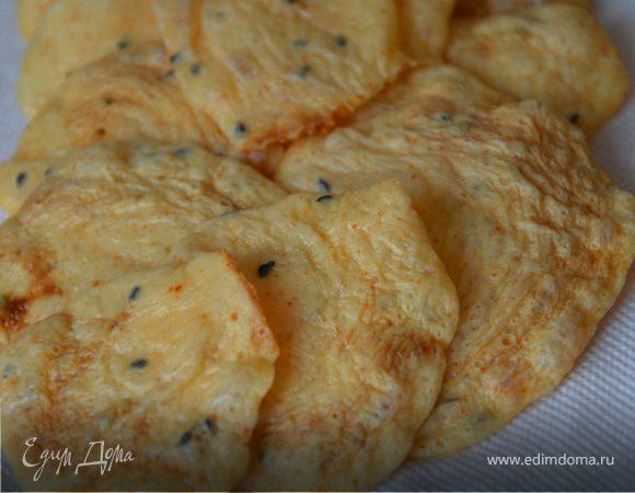 Чипсы сырные из творожка
