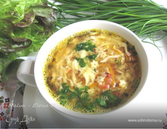 Итальянский чечевичный суп с пастой