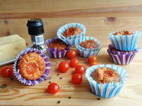 Сырные маффины с помидорами черри